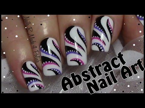 abstraktes streifen nageldesign selber malen n gel lackieren nail art design tutorial youtube. Black Bedroom Furniture Sets. Home Design Ideas