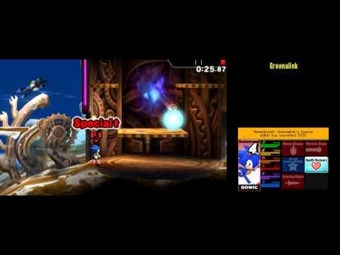 Sonic [214083] Super Smash Bros 4 3DS Smash Run 200,000+ score run