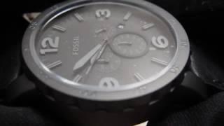 Fossil Herrenuhr JR1354 Nate Chronograph Schwarz Grau