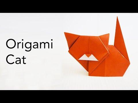 Easy Kids Origami Cat Tutorial - Designed by Keiji Kitamura