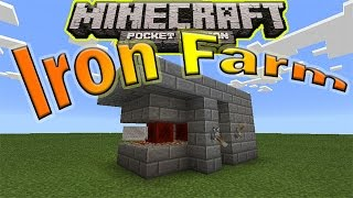 IRON FARM ! Redstone Tutorial | Minecraft PE (Pocket Edition)