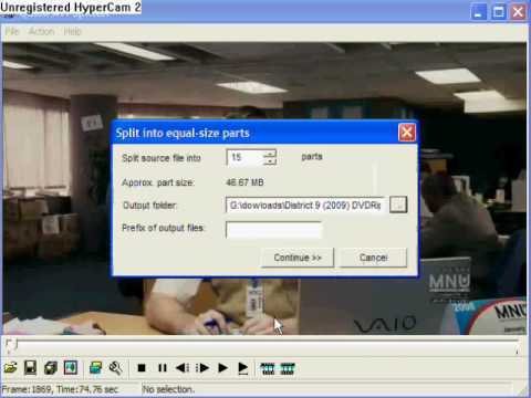 How to use Quick AVI splitter (how to cut a video in pieces)