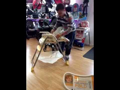 Easy folding Joie highchair leicester-www.babygosling.co.uk