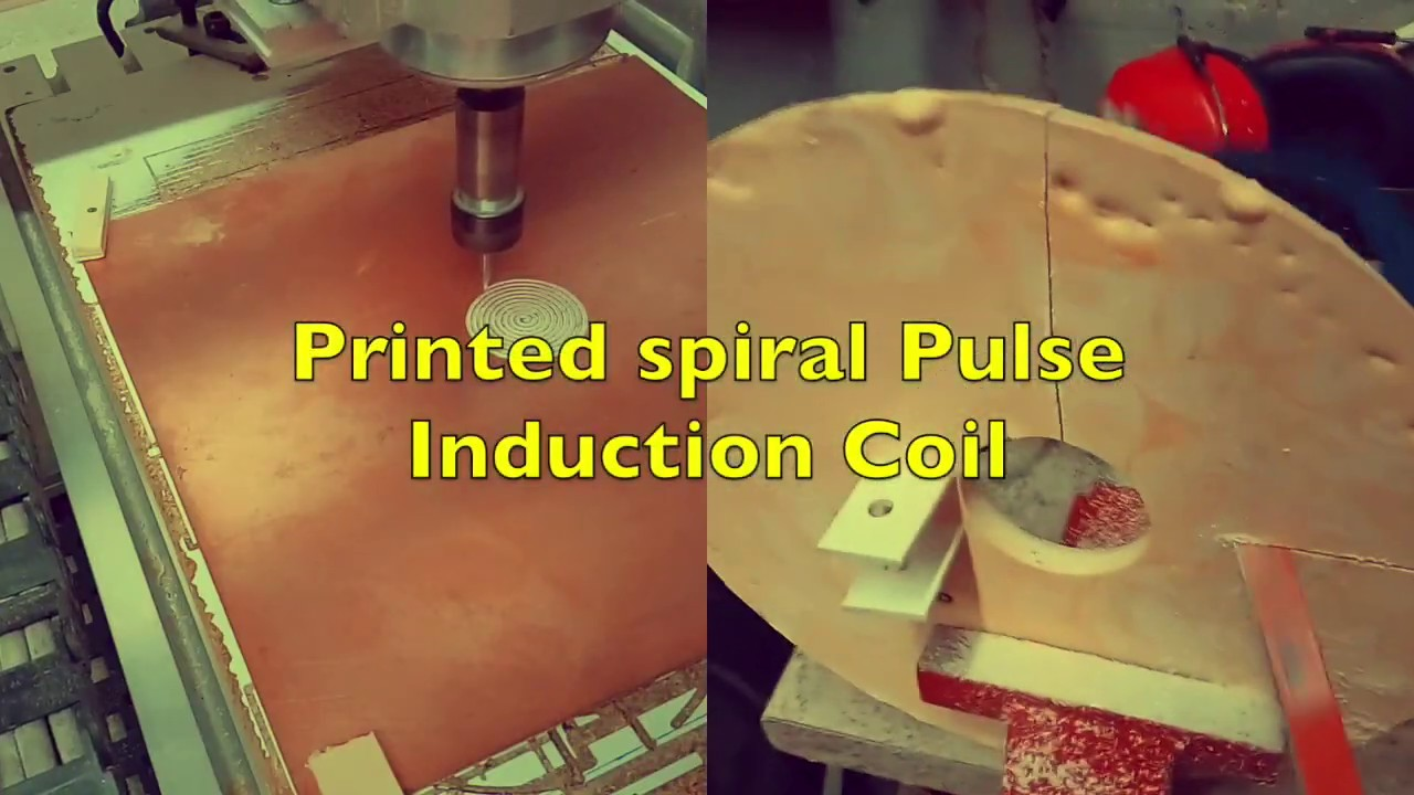 printed spiral coil for pulse induction
