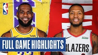 LAKERS at TRAIL BLAZERS | FULL GAME HIGHLIGHTS |  December 28, 2019