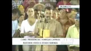 Visita de Henrique Capriles Radonski, candidato de la Unidad, al estado Barinas