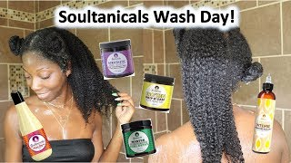 A WHOLE Wash Day ft. Soultanicals | I LOVED every single product except 1...SMH 🤦🏾♀️