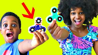 DROPPED FIDGET SPINNER!  - Shasha and Shiloh - Onyx Kids