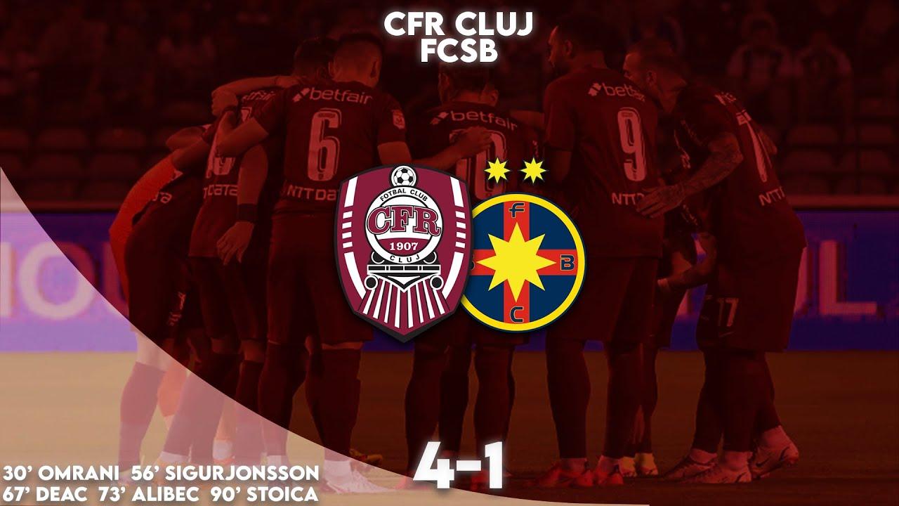 REZUMAT | CFR Cluj - FCSB 4-1. Umilință pentru echipa lui Becali