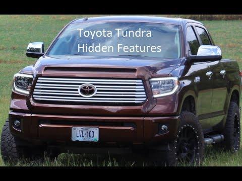 Toyota Tundra Hidden Customizable Features