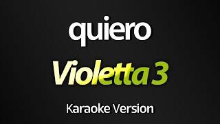 Baixar Violetta 3 - Quiero (Mercedes Lambre) (Acústico) (KARAOKE COMPLETO)