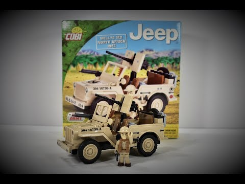 Cobi Small army Jeep wills MB Noth Africa 1943 (24093) Quick build + Review