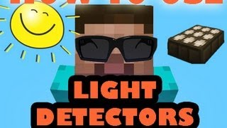 How to use Daylight Sensor (Solar Panels) - Minecraft 1.5.2 Update