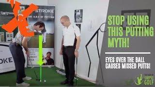 Golf Putting Myth Eyes Over The Ball - Putting Myths Destroyed