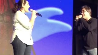 A Whole New World: Jessica Ordaz sings with Brad Kane at D23 2015