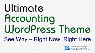 Accounting WordPress Theme ( AccountingWeb ) walkthrough video