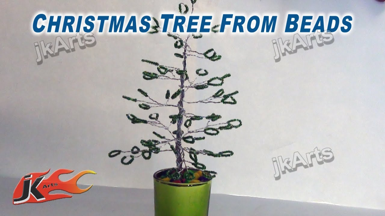 diy beads wire tree diy how to make christmas decorations jk arts 261 youtube - Wire Christmas Tree