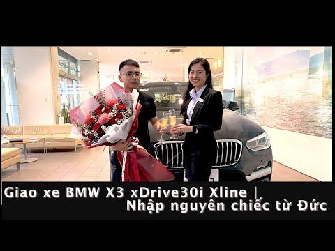 Giao Xe BMW X3 Xdrive30i Xline về Gia đình Anh H****  BMW X3 màu Đen Sapphire/ Cognac   Mi BMW