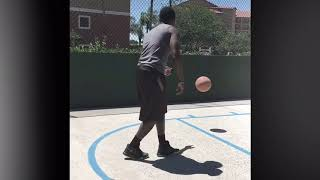 Sir Talent with the rock - (final layup is the Talent challenge)