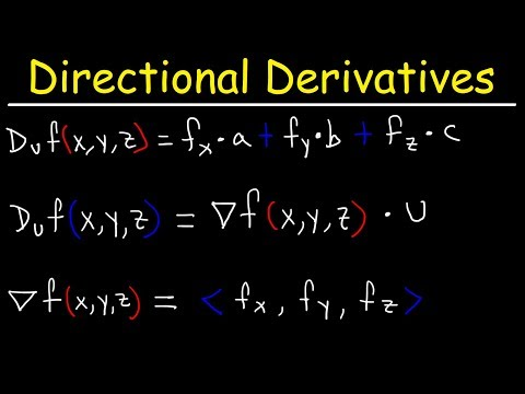 How To Find The Directional Derivative And The Gradient Vector