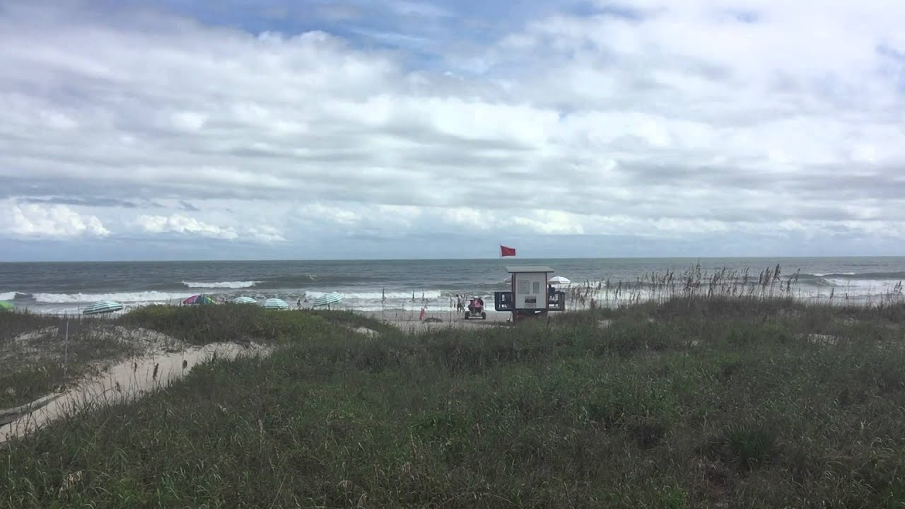 One Minute At The Beach Lori Wilson Park Cocoa Florida Video