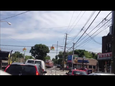 FDNY Engine 159 & Brand New Tower Ladder 85 Responding In Staten Island