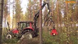 Valtra w lesie