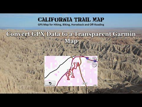Convert GPX Data to a Transparent Garmin Map - YouTube