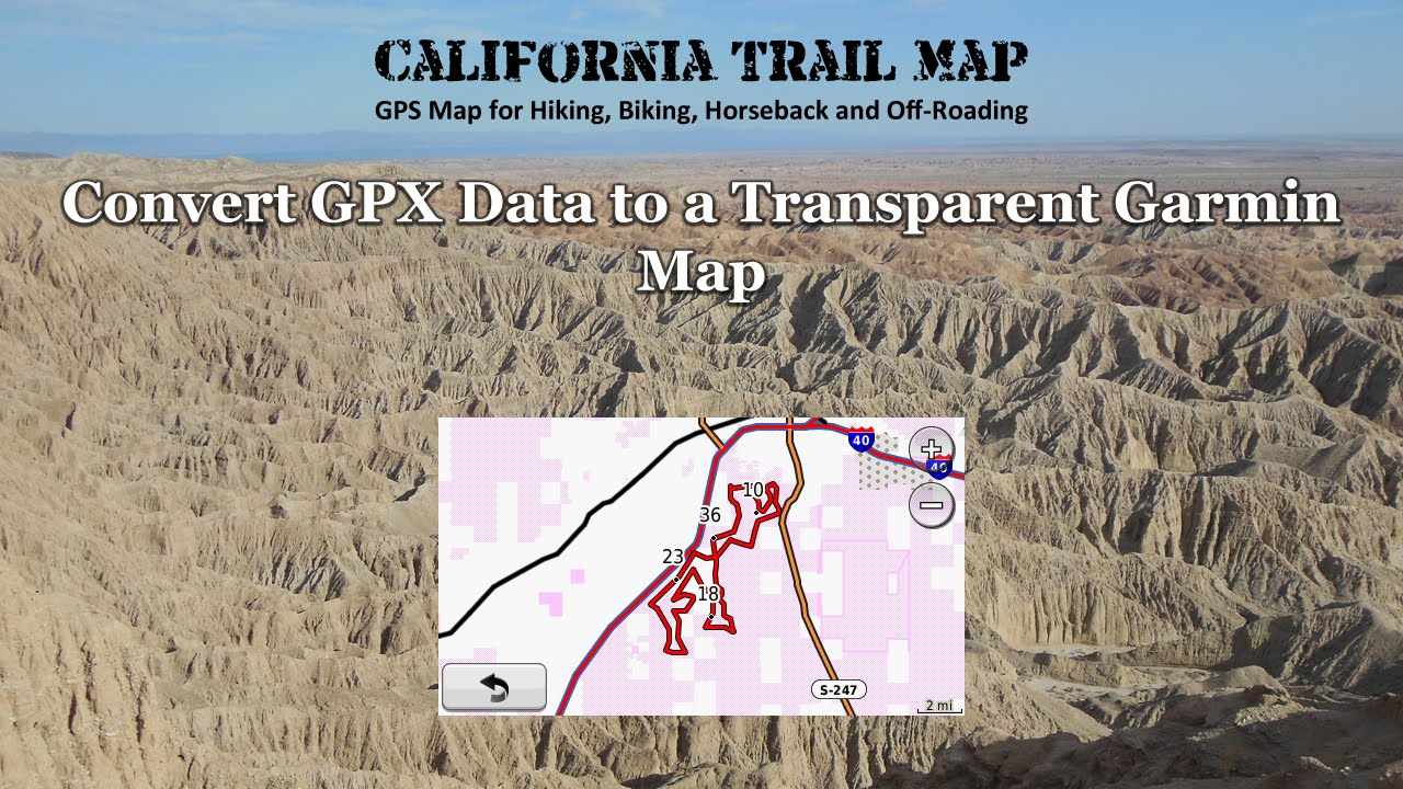 Convert GPX Data to a Transparent Garmin Map