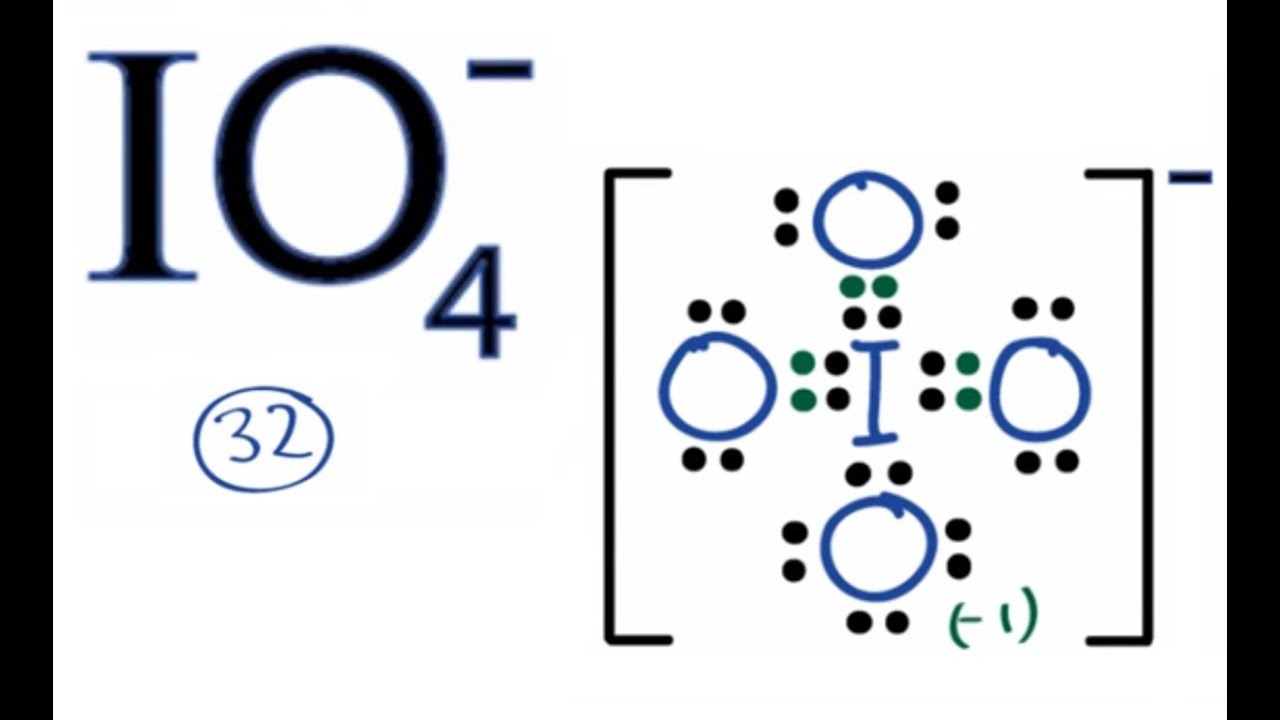 Io4 Lewis Structure How To Draw The Lewis Structure For Io4