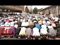 Massive Muslim Prayer on Streets of Paris in Protest of Mosque Closure  #NIH
