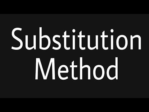 Substitution Method Ll Solving Linear Equations With Two Variables Ll Cbse Class 10