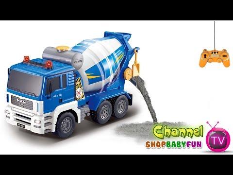 Xe ô tô trộn bê tông điều khiển từ xa | Concrete mixer trucks remote control [dochoihanquoc.vn]
