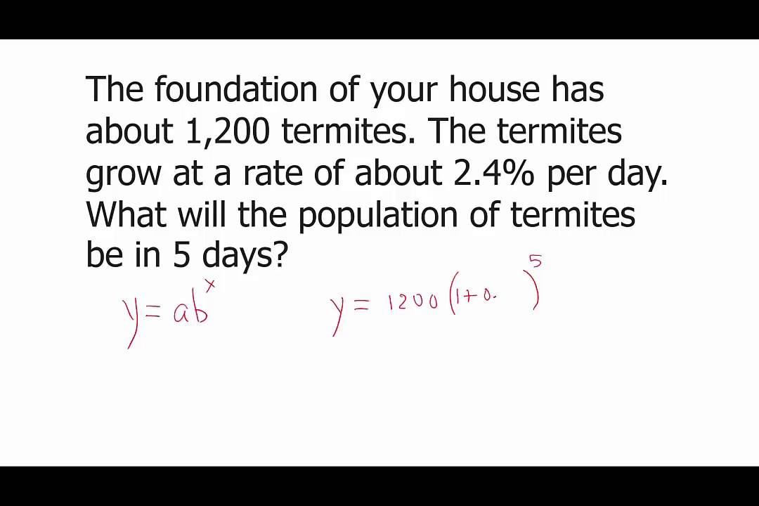 Rate Of Growth Or Decay Lications Exponential Functions