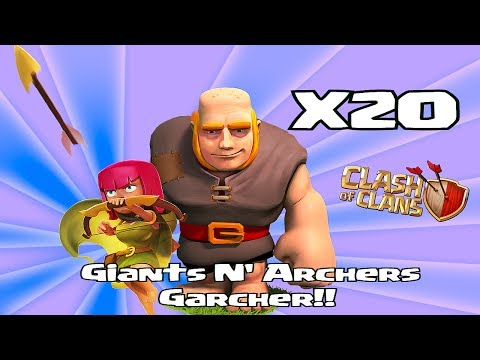 Clash of clans - Giants & Archer attack strategy ( Garch)