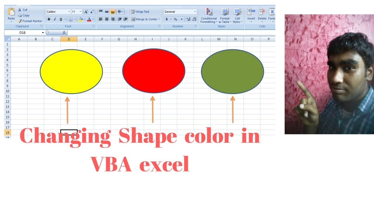 Changing color of shapes in vba excel : Moving image part- 2
