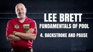 APA Lee Brett Billiard Instruction - Pool Lesson 4 - How to Backstroke and Pause