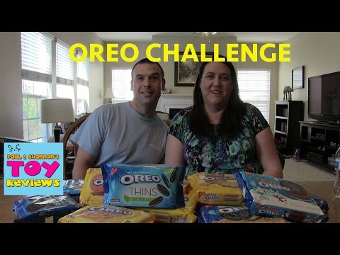 Oreo Cookie Challenge With Paul & Shannon | PSToyReviews