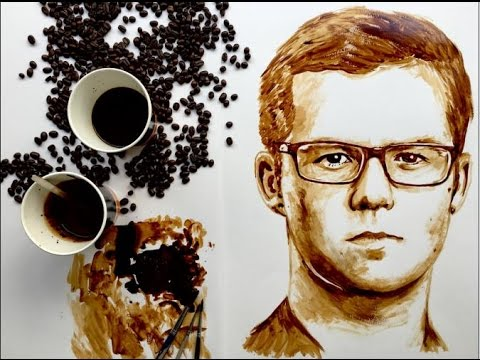 Harry Reid Coffee Art by Nathan Wyburn