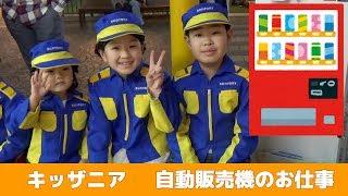 キッザニア 自動販売機ジュース補充のお仕事 せんももあい Kidzania Tokyo Filling A Vending Machine 2018