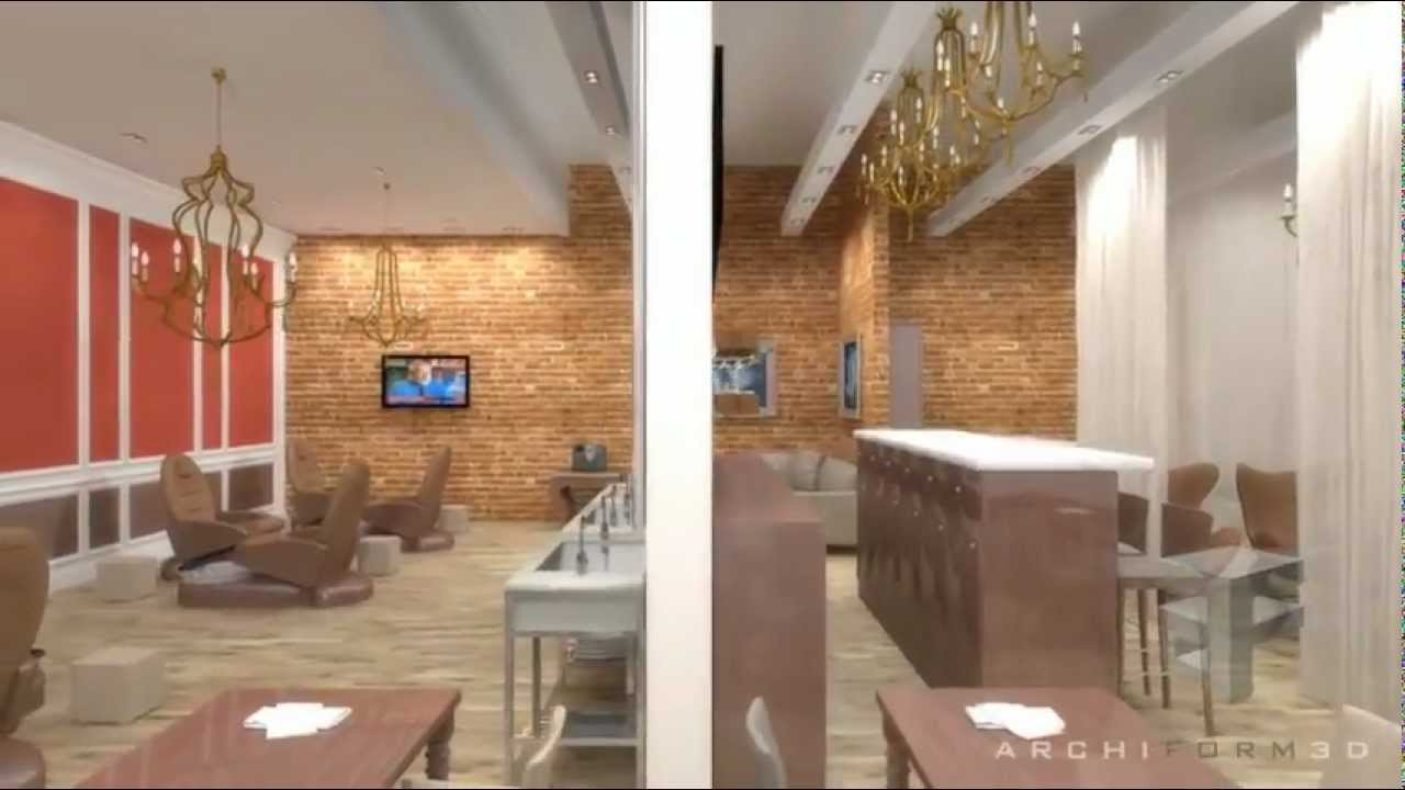 Archiform 3d animation of a new nail salon design youtube - Sallon design ...