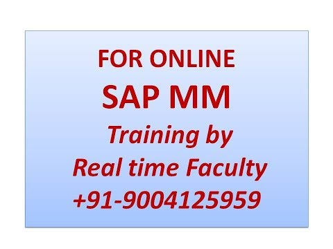 SAP MM 09  Direct and Indirect Procurement Process