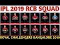 IPL 2019 Royal Challengers Bangalore Team Squad | RCB Confirmed & Final Squad | RCB Players List