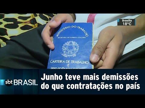 Índice de empregos formais fica negativo pela primeira vez no ano | SBT Brasil (21/07/18)