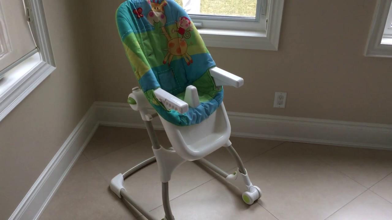 Fisher-Price EZ Clean High Chair Luv U Zoo & Fisher-Price EZ Clean High Chair Luv U Zoo - YouTube