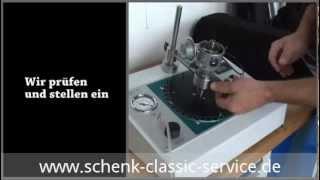 Prüf und Einstellarbeiten am Zündverteilerprüfstand  schenk-classic-service.de