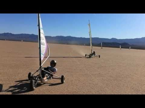 Landsailing on Ivanpah