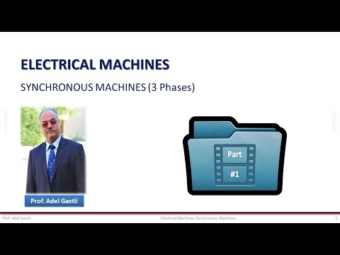 Electrical Machines: Synchronous Machines (Part 1/6)