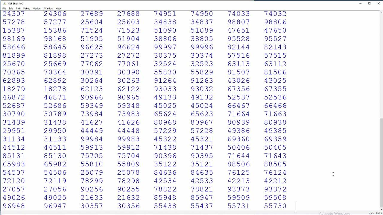 Number Stations as Screensaver - Random Number Generator - Python