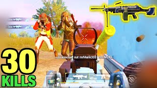 4 Kills in 5 Second with M249 | PUBG MOBILE